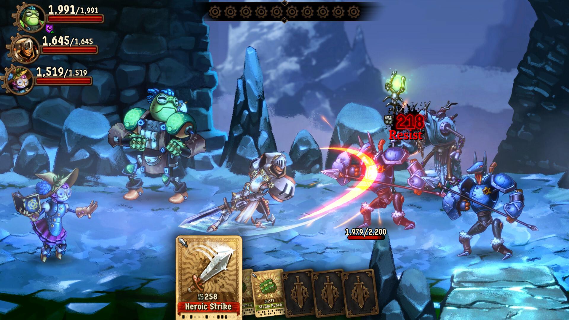SteamWorld Quest: Hand of Gilgamech screenshot 1