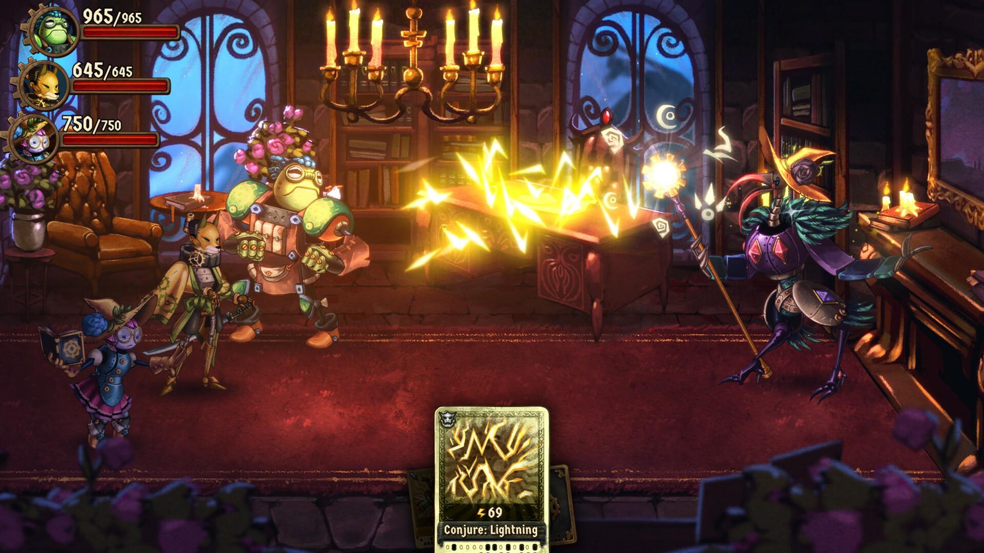 SteamWorld Quest: Hand of Gilgamech Captura 2